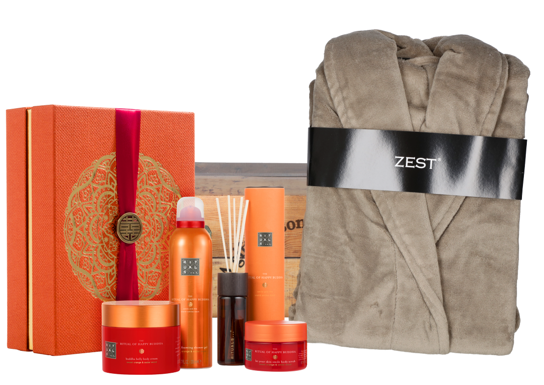 Rituals Happy Buddha Collection met badjas tau