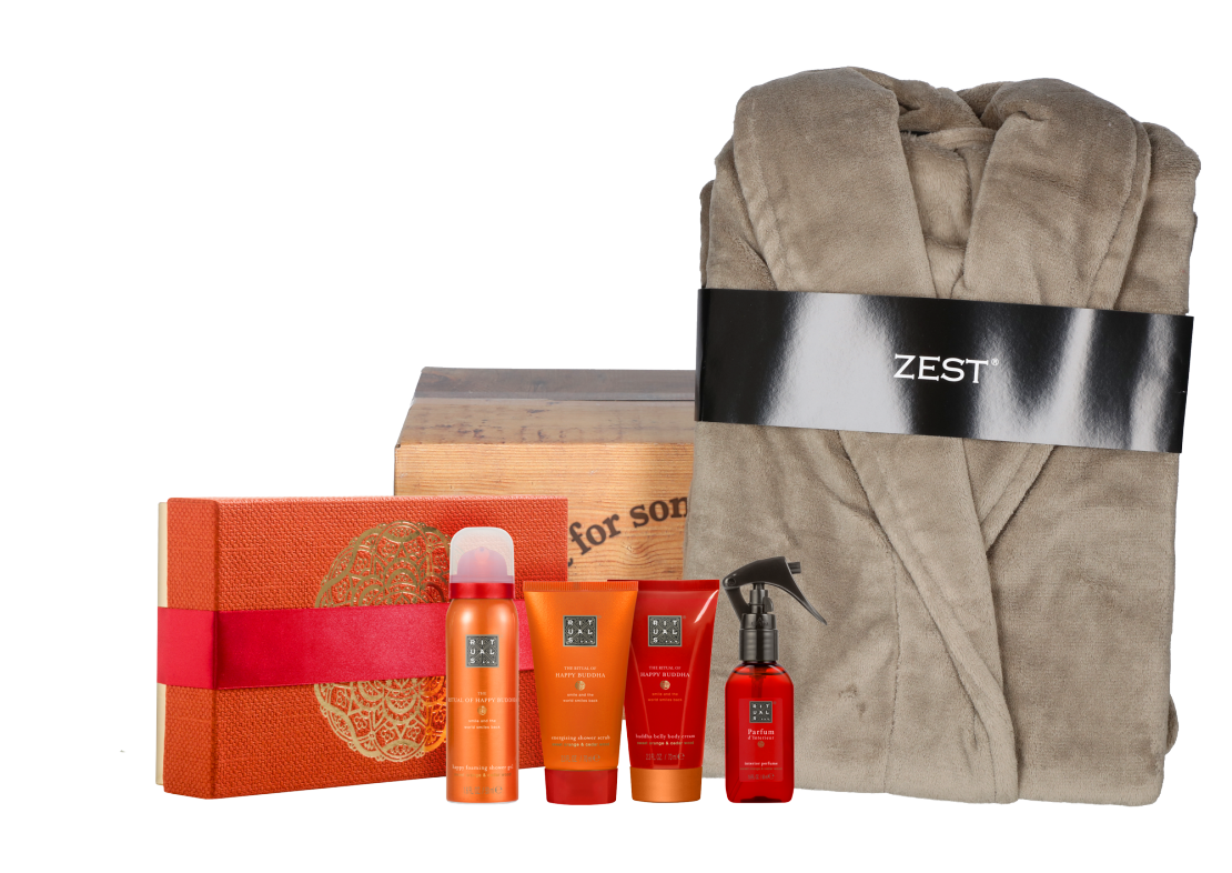 Rituals Happy Buddha Treat met badjas taupe