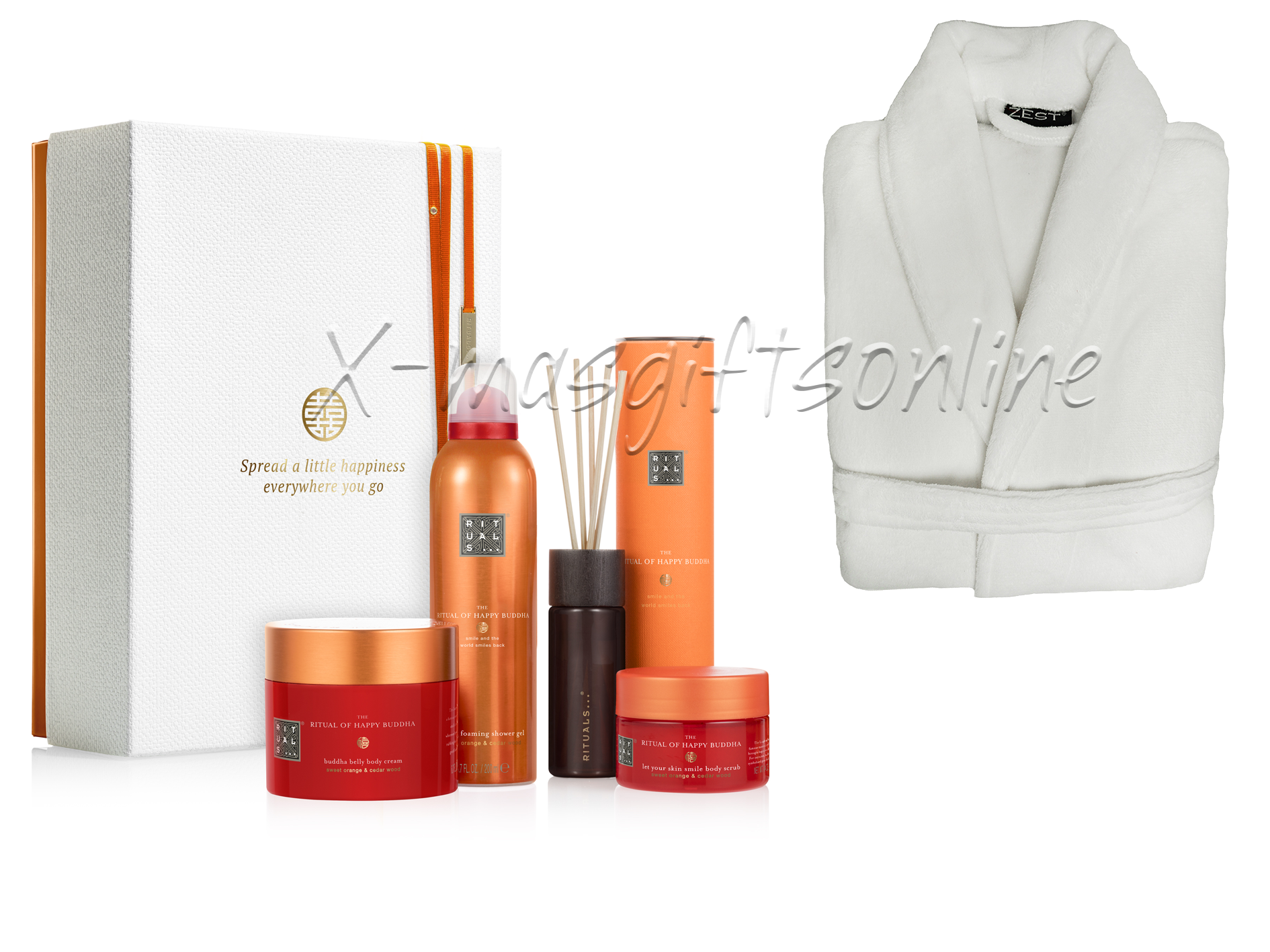 Rituals Happy Buddha Collection met badjas wit