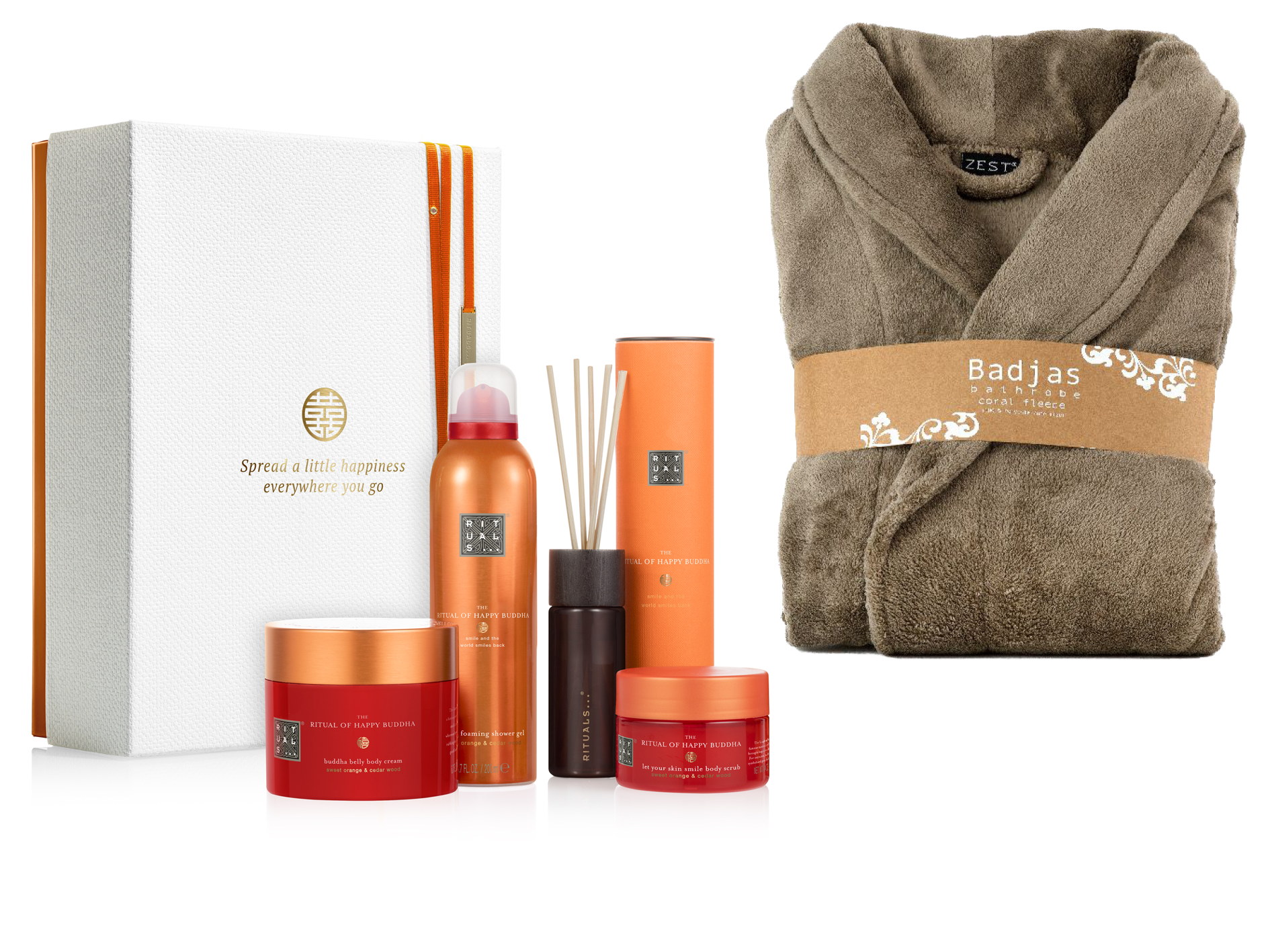 Rituals Happy Buddha Collection met badjas taupe